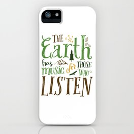 The Earth's Music iPhone Case