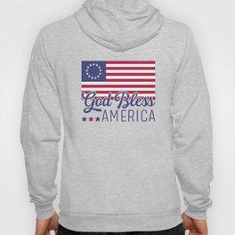 Betsy Ross Flag God Bless America Hoody
