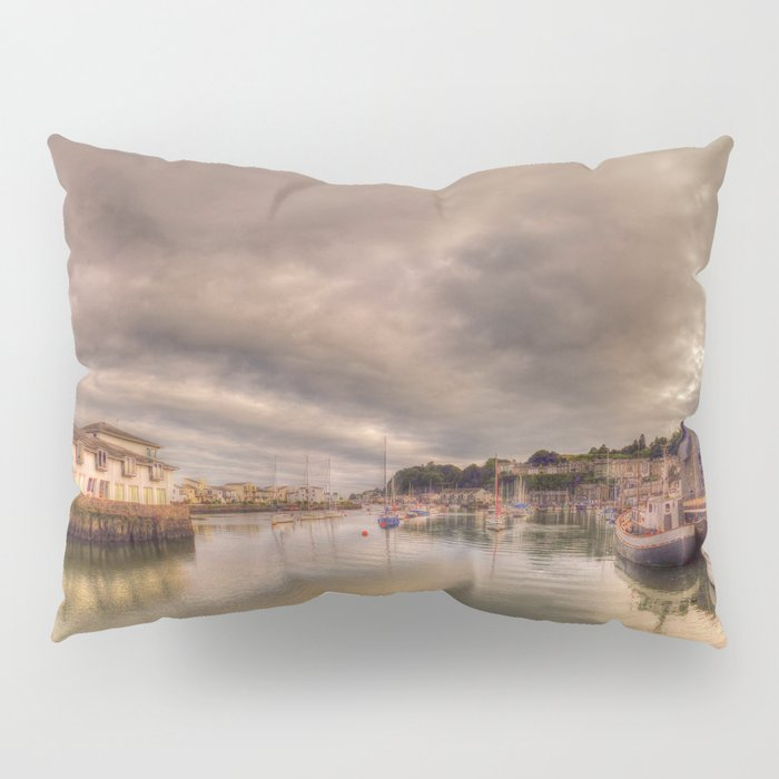 Porthmadog Harbour at Dusk Pillow Sham