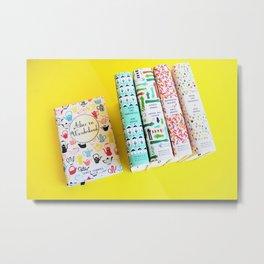 Pretty Book Collection Metal Print