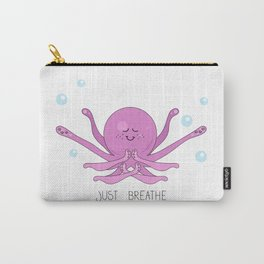 Cartoon octopus doing yoga underwater Carry-All Pouch