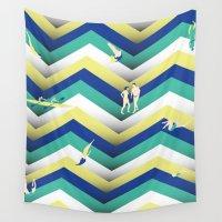 swim Wall Tapestries featuring Swim by Salomé Milet