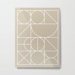 Neutral Geometric 6B Metal Print