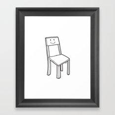 chair boy Framed Art Print