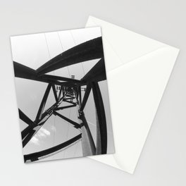 Power pole black and white Stationery Cards