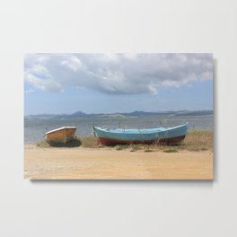 Old Rusty Boats Metal Print