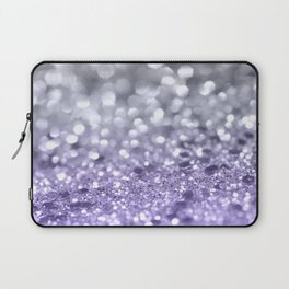 Purple Gray MERMAID Girls Glitter #1 #shiny #decor #art #society6 Laptop Sleeve
