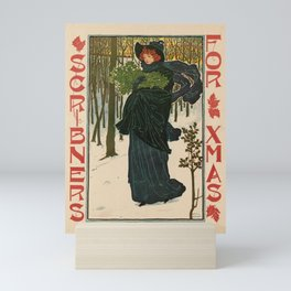 altes Plakat scribners for xmas. 1895 Mini Art Print