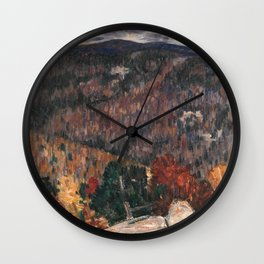 Landscape No. 25 by Marsden Hartley Wall Clock