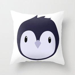 Doodle Penguin Logo Throw Pillow