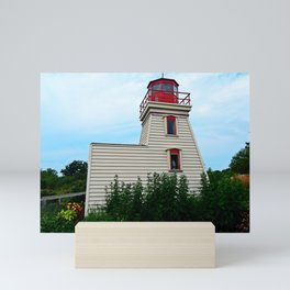 Lighthouse in the Garden Mini Art Print