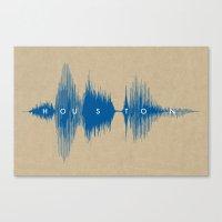 houston Canvas Prints featuring Houston by Bespoken Art