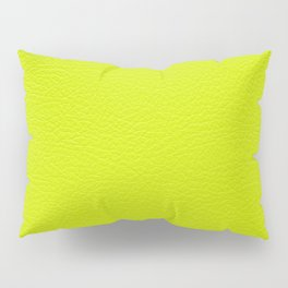 Lime green leather texture Pillow Sham