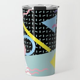 Memphis Pattern 6 - 80s - 90s - Retro Travel Mug