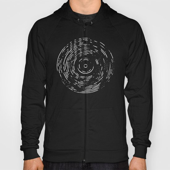Record White on Black Hoody