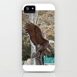 American Eagle and Birch Tree iPhone Case