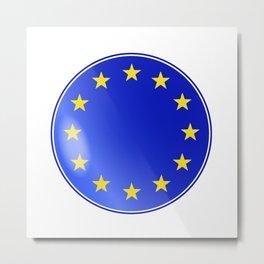 EU Button Metal Print