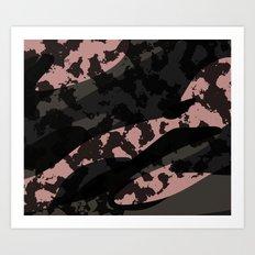 Pink Leopard Camo Art Print