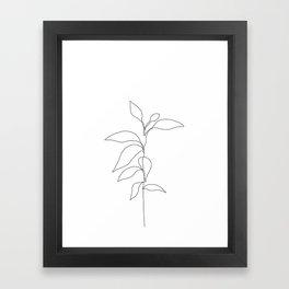 Single line plant drawing - Danya Framed Art Print