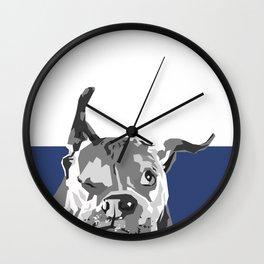 HappyDogBlue Wall Clock