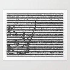 terribilis lineas. Art Print