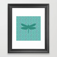 pattern with dragonfly 2 Framed Art Print