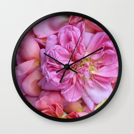 English Rose Petals Wall Clock