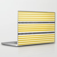 striped Laptop & iPad Skins featuring Striped by Mariana Nabas