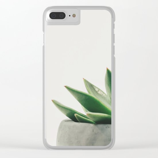 Minimal Cactus - Cacti Photography Clear iPhone Case