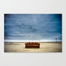 Couch on the Beach Canvas Print