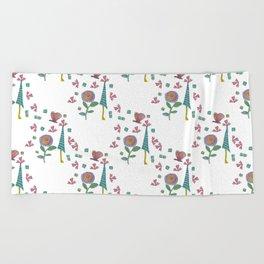 Whimsical Garden Beach Towel