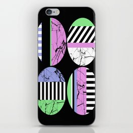 AMPS Uno - Abstract Marble Pastel Stripes iPhone Skin