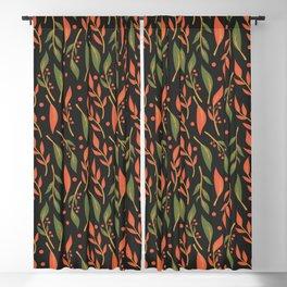Vintage Floral Pattern 011 Blackout Curtain