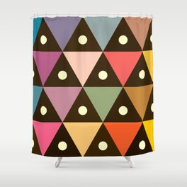 Cosmic Triangles Shower Curtain