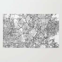 Kuala Lumpur Map Line Rug
