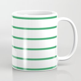 Kelly Green Breton Stripes Coffee Mug