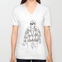 eddie vedder V-neck T-shirts featuring eddie by Panic Junkie