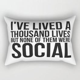 No Social Life Rectangular Pillow
