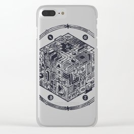 The Folly of Time and Space, Explained Clear iPhone Case