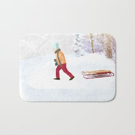 First snow Bath Mat