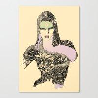 megan lara Canvas Prints featuring Lara by hyperpattern