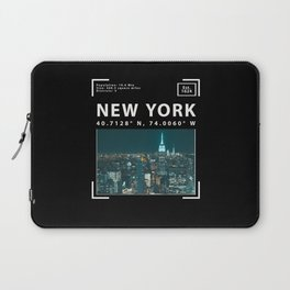 New York City, Skyline and Facts Laptop Sleeve