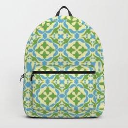 MOSAIQUE BLEUE ET VERTE Backpack