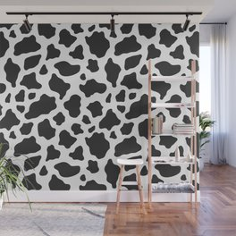 Black and White Cow Print Wall Mural