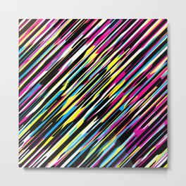 Diagonals color mix Metal Print