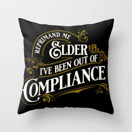 Reprimand Me Throw Pillow