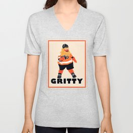Gritty the new mascot of the Flyers in Philadelphia Unisex V-Neck