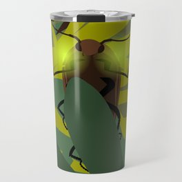 Aglow: headlight click beetles  Travel Mug