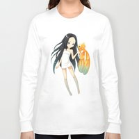 goldfish Long Sleeve T-shirts featuring Goldfish by Freeminds