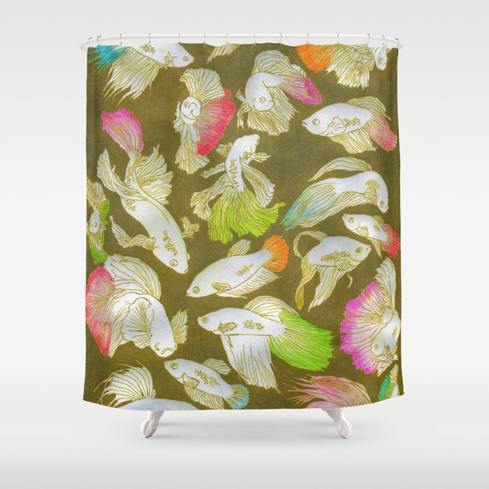 siamese lovers not fighters! Shower Curtain